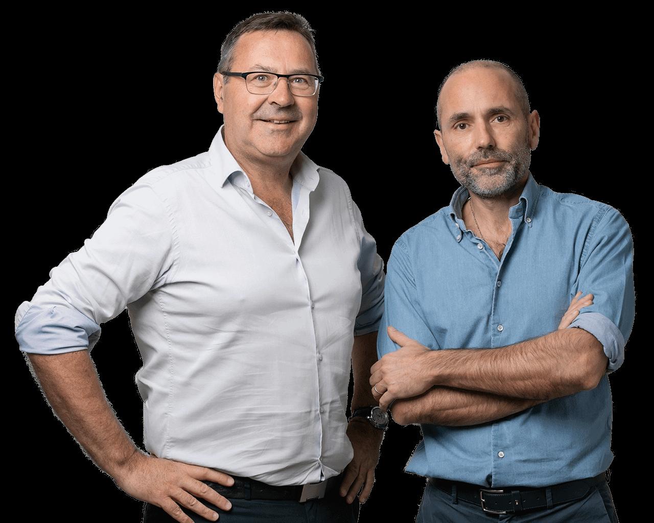 Jean-Luc et Xavier, experts-comptables du cabinet SOCIC